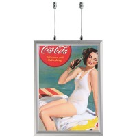 A1 Double Sided Suspended Silver 25mm Snap Frame