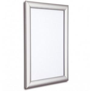 Tamper Resistant Silver Snap Frames, 25mm
