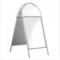 """20"""" x 30"""" White Tubular Arched Headed A Board"""