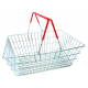 Basket Set with Mobile Plinth, Containing 20 Bonded Wire Baskets