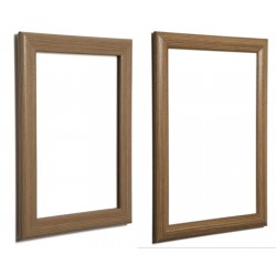 Dark Brown, Wood Effect Snap Frames