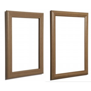 Dark Brown, Wood Effect Snap Frames