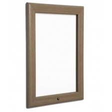 "20"" x 30"" Oak, Dark Wood Effect Lockable Snap Frame, 32mm"