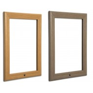 Oak or Pine Wooden Effect Lockable Aluminium Snap Frames