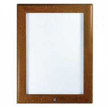 "30"" x 40"" Oak, Dark Wood Effect Lockable 32mm Snap Frame"