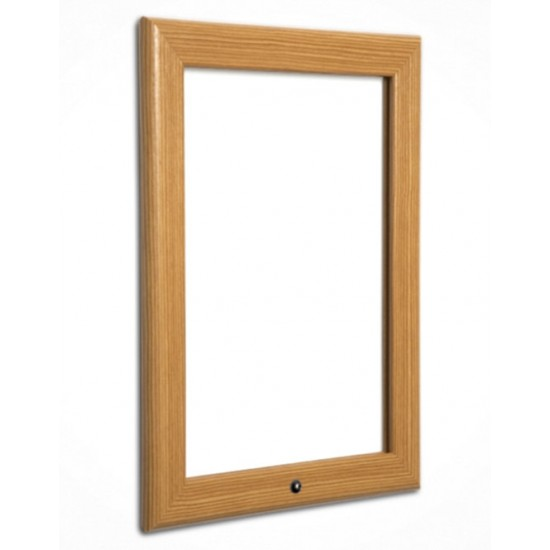 A3 Pine, Light Wood Effect Lockable Snap Frames, 32mm from Snap ...