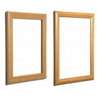 Light Brown, Wood Effect Snap Frames