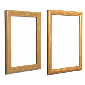 Light Brown, Wood Effect Snap Frames