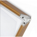 A0 Pine, Light Wood Effect Lockable 32mm Snap Frame