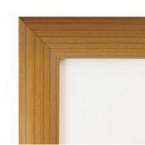 A0 Pine, Light Wood Effect 25mm Snap Frame